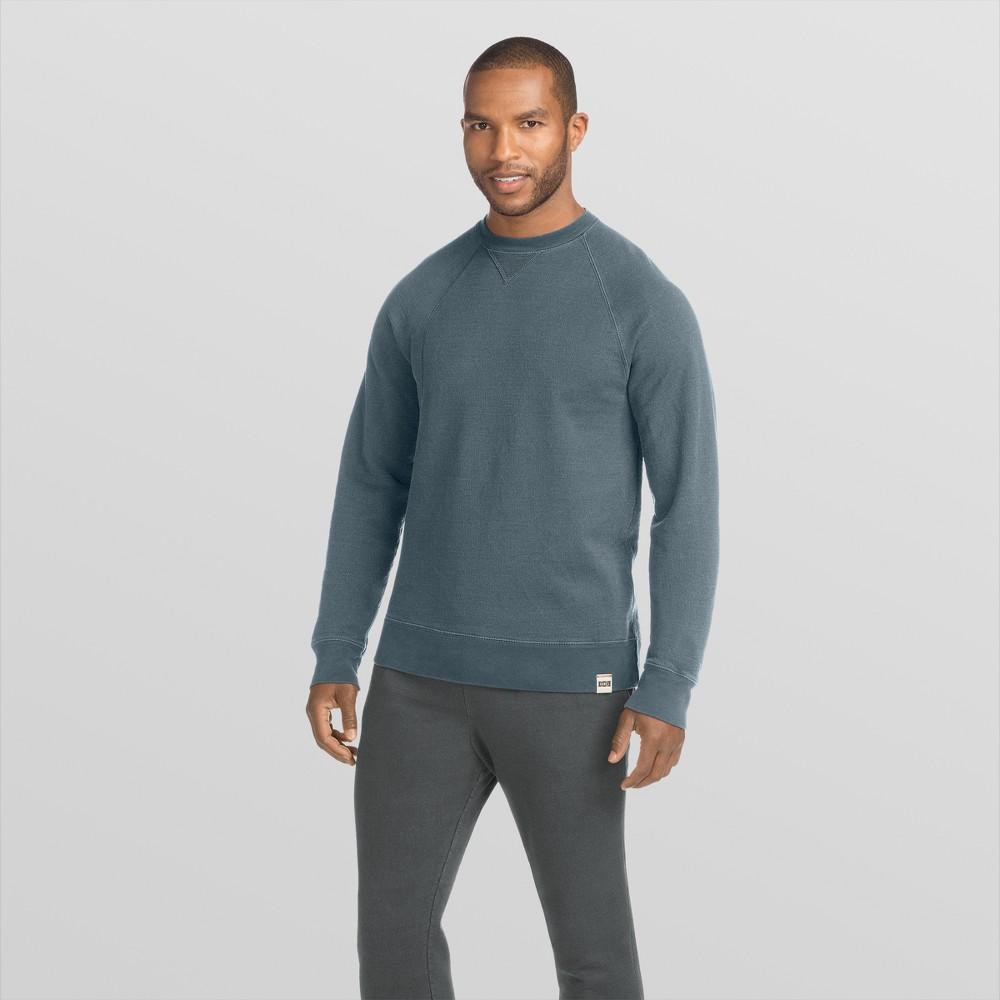 Hanes 1901 Men's V-Notch Raglan Pullover Sweatshirt - Indigo Blue 2XL