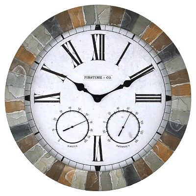 18  FirsTime Garden Stone Wall Clock - Multi Color