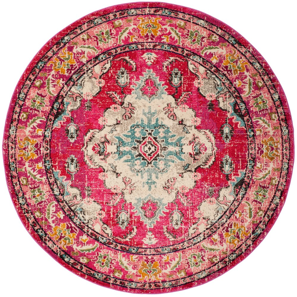 67 Round Medallion Area Rug Pink - Safavieh Cheap