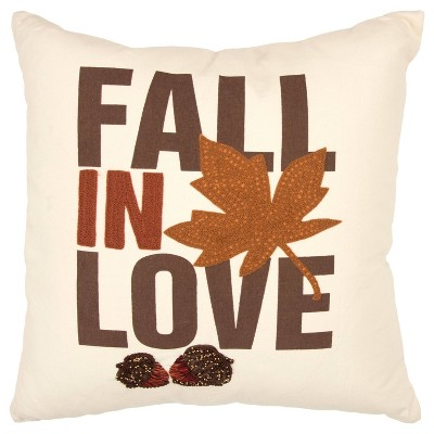 """""""Fall In Love"""" Filled Throw Pillow - Rizzy Home"""