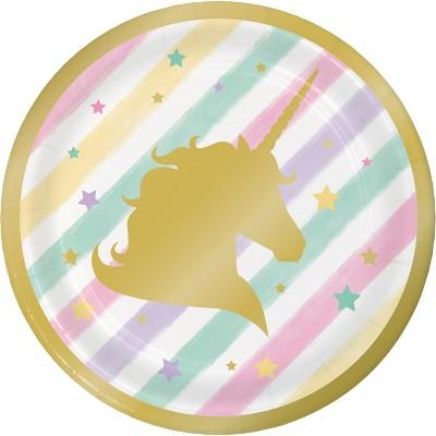 "Sparkle Unicorn 7"" Dessert Plates - 8ct"