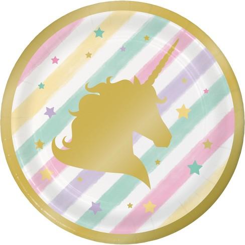 "Sparkle Unicorn 7"" Dessert Plates - 8ct - image 1 of 2"