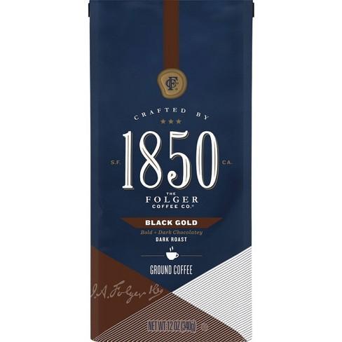 1850 Black Gold Dark Roast Ground Coffee - 12oz - image 1 of 4