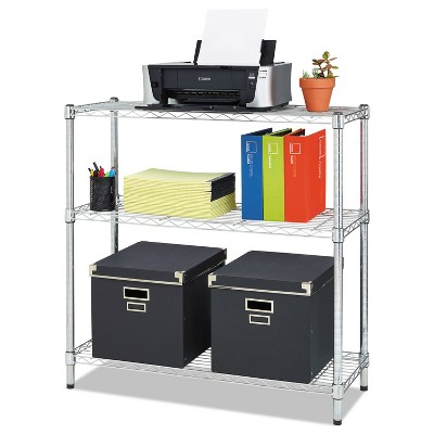 Alera Residential Wire Shelving Three-Shelf 36w x 14d x 36h Silver SW833614SR