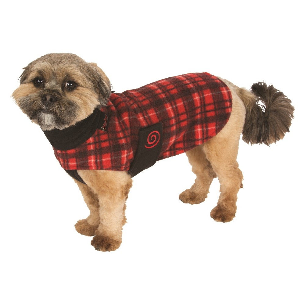 Ultra Paws Cozy Coat Comfy for Dog - Red - One Size