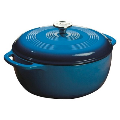 Lodge 6qt Cast Iron Enamel Dutch Oven Blue