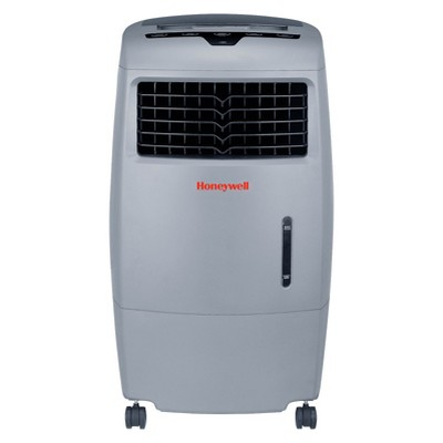 Honeywell 52 Pt. Indoor/Outdoor Portable Oscillating Evaporative Air Cooler With Remote Control - Gray