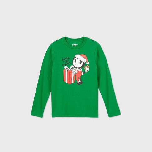 Bendy Shirt Roblox Boys Bendy Santa I Can Explain Long Sleeve Graphic T Shirt Green Target
