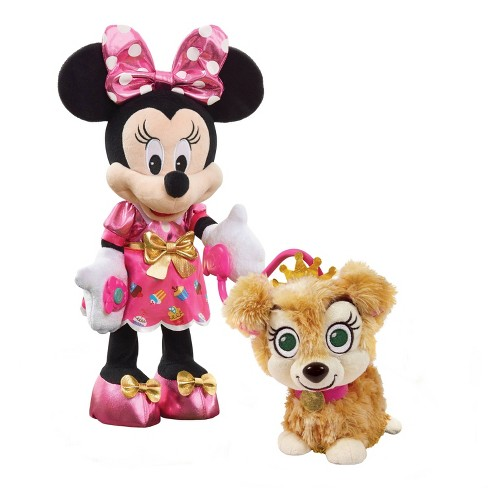 Disney Junior Minnie Mouse Party Play Pup Plush Target