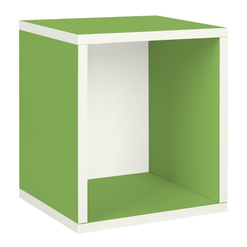 Way Basics Stackable Eco Storage Cube Cubby Organizer, Green - Formaldehyde Free - Lifetime Guarantee - image 1 of 8