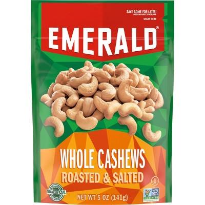 Emerald Whole Cashews Roasted & Salted - 5oz