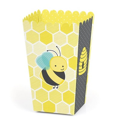 Big Dot of Happiness Honey Bee - Baby Shower or Birthday Party Favor Popcorn Treat Boxes - Set of 12