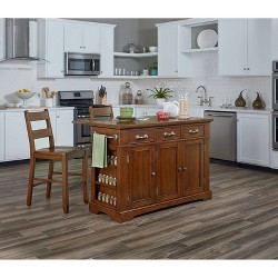 Country Kitchen Large Kitchen Island - INSPIRED by Bassett