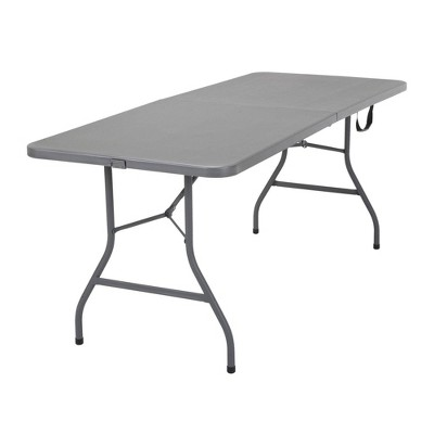 "6"" Blow Mold Centerfold Table Gray - Room & Joy"