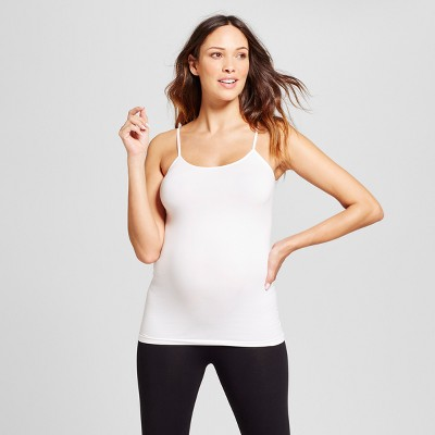 Maternity Seamless Cami - Isabel Maternity™ by Ingrid & Isabel® White S/M