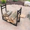 """Firewood Log Rack with Kindling Holder - 33"""" Black - Sunnydaze Decor - image 2 of 4"""