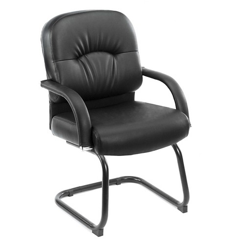 Mid Back Caressoft Guest Chair Black - Boss Office Products - image 1 of 1