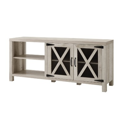 "2 Door Modern Farmhouse Storage TV Stand for TVs up to 65"" - Saracina Home"