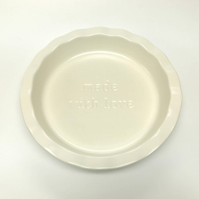 "10"" Stoneware Made With Love Pie Dish White - Threshold™"