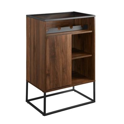 Contemporary Wine Display Bar Cabinet - Saracina Home