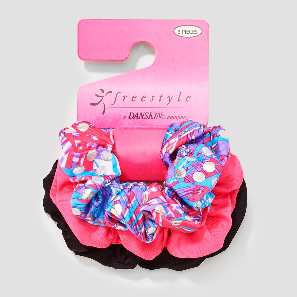 Girls' Freestyle By Danskin 3pk Hair Elastics - Pink