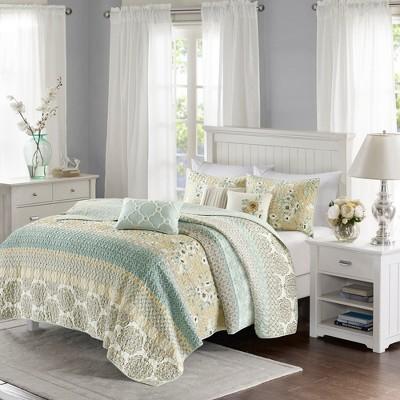Loraine Printed Quilt Set 6pc