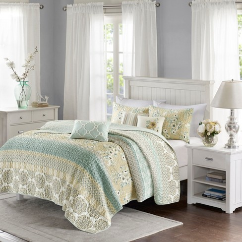 Loraine Printed Quilt Set 6pc - image 1 of 4
