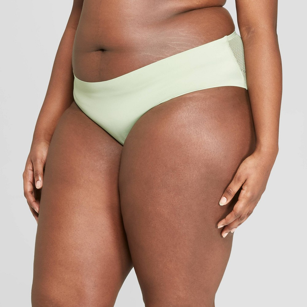 Women's Plus Size Bonded Hipster with Mesh Back - Auden Kiwi Green 2X