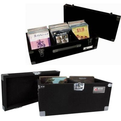 Odyssey CLP200P Carpeted Pro DJ Vinyl Record Case + C45200 45 RPM Record Case