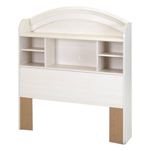 Country Poetry Twin Bookcase Headboard - 39'' - White Wash - South Shore - image 1 of 5