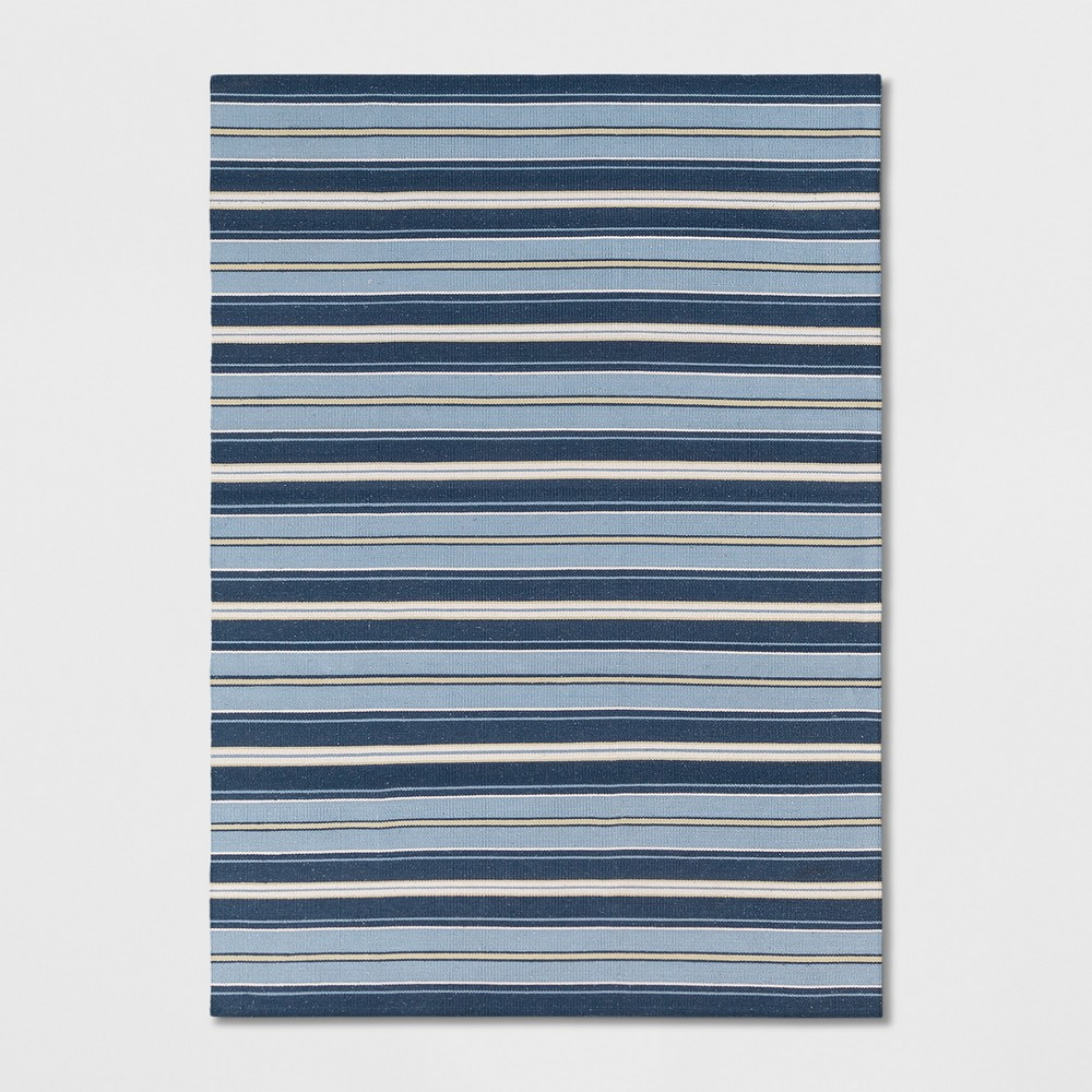5'X7' Stripe Woven Area Rugs Blue - Threshold