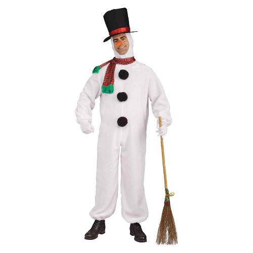 Halloween Men's Plush Snowman Costume, Size: Small