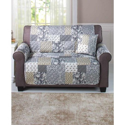 Lakeside Love Seat Slipcover with Quilted Pattern with Reversible Side