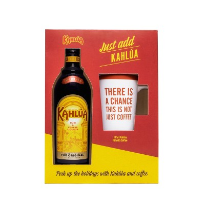 Kahlua Rum & Coffee Liqueur Gift Set - 750ml Bottle with 50ml Absolute Vodka Vodka & Martini Glass