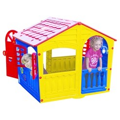 PalPlay House of Fun Playhouse - Yellow/Red /Blue