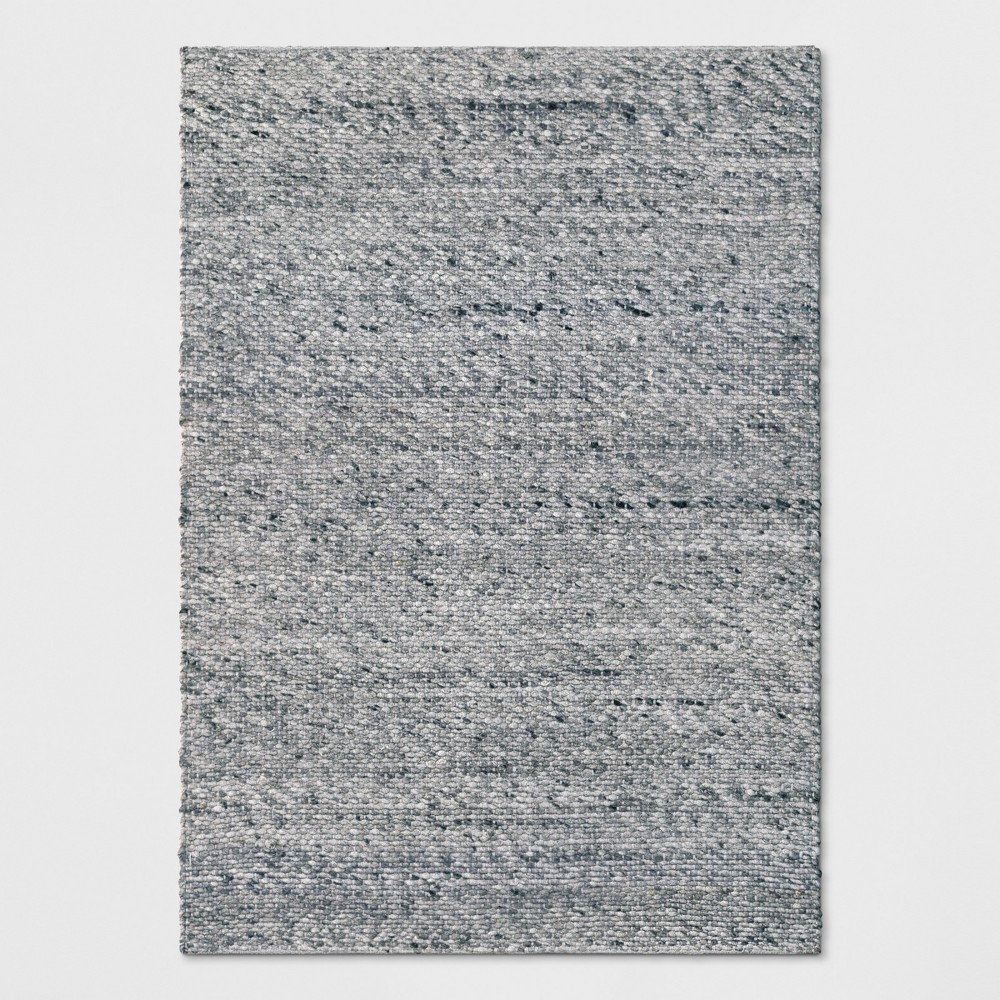 Chunky Knit Wool Woven Rug 7'X10' Gray - Project 62