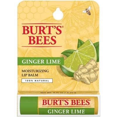 Burt's Bees Lip Balm - Ginger Lime - 0.15oz