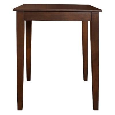 Tapered Leg Pub Table Wood/Mahogany - Crosley