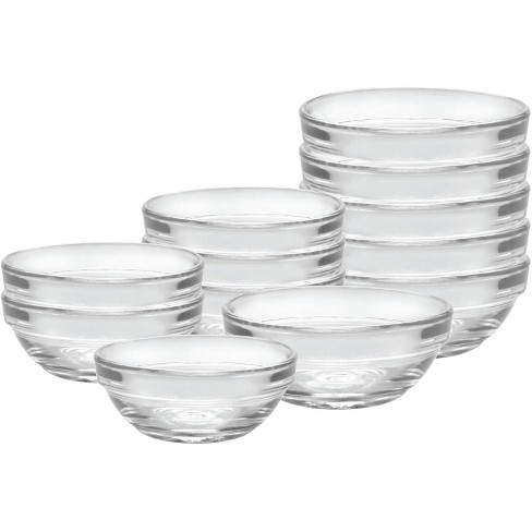 Duralex Lys Heavy Duty Durable Multi Purpose Stackable Nesting Clear Glass Food Prep Mixing Bowls, 12 Piece Set - image 1 of 3