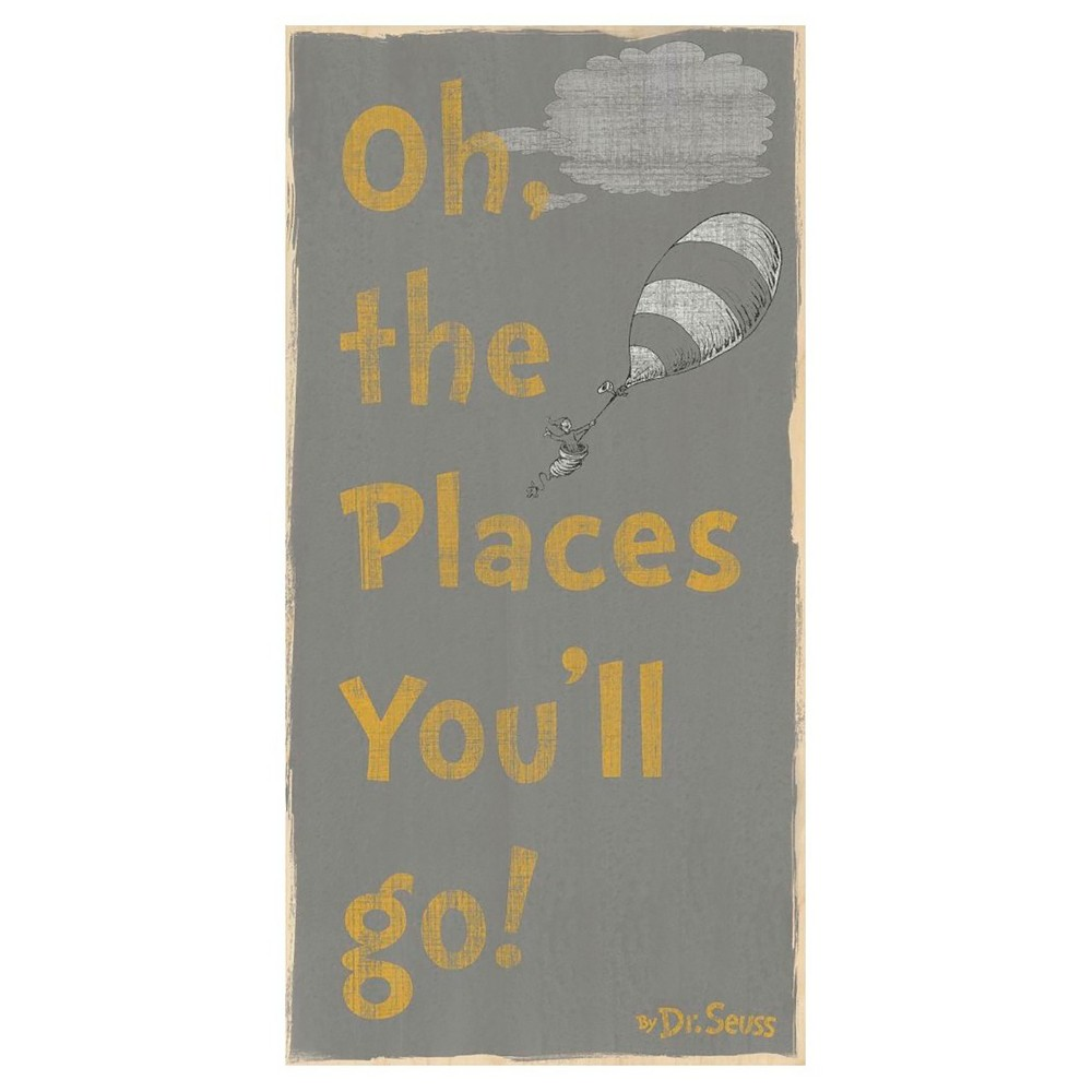 Image of Dr. Seuss Oh The Places You'll Go Wood Box