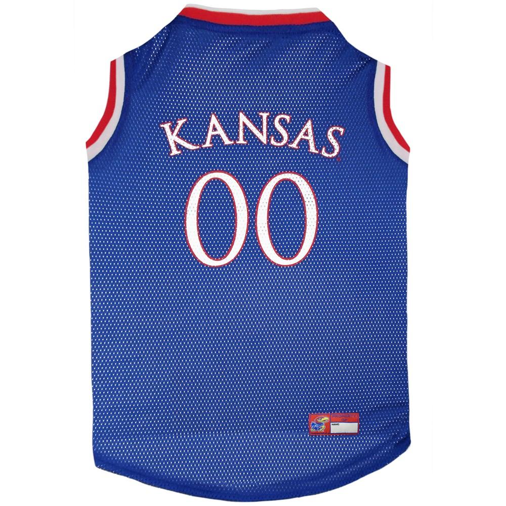 Pets First Kansas Jayhawks Basketball Jersey - L, Multicolored