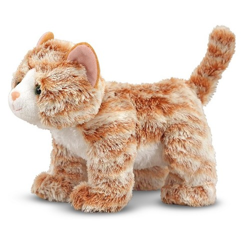 Melissa Doug Pumpkin Tabby Stuffed Animal Cat Target