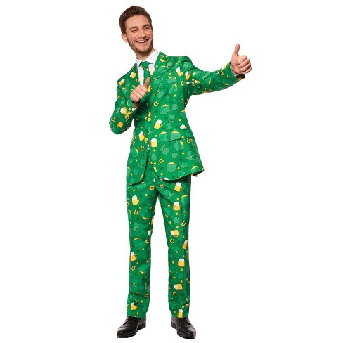 Adult St Pats Icons Suit Halloween Costume - 46-48 - image 1 of 3