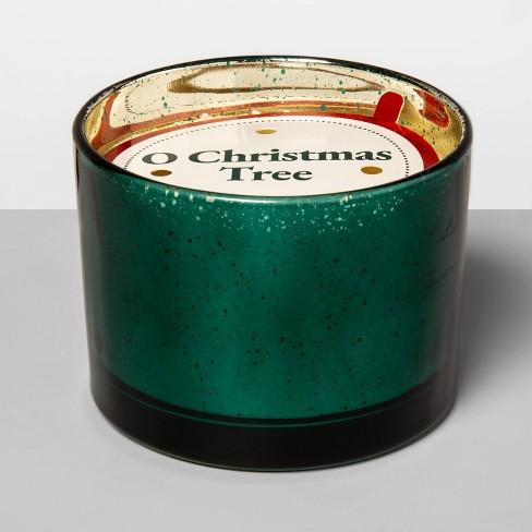 12oz Mercury Glass Jar 3-Wick Candle O Christmas Tree - Opalhouse™ - image 1 of 2
