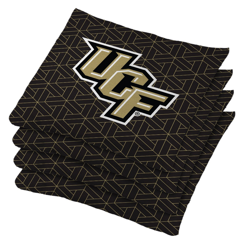 NCAA Ucf Knights 4pk Bean Bag Set - Black