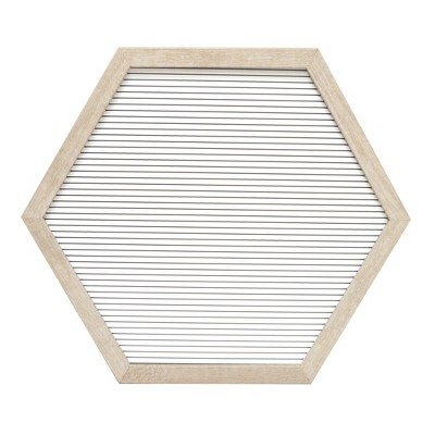 15.5 x13.7  Hexagon Letter Board Decorative Wall Art White - Room Essentials™