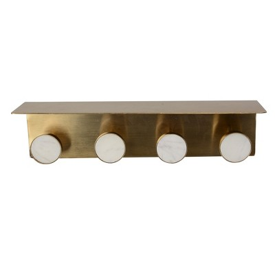 4pc Wall Hooks with Marble Light Gold - Project 62™