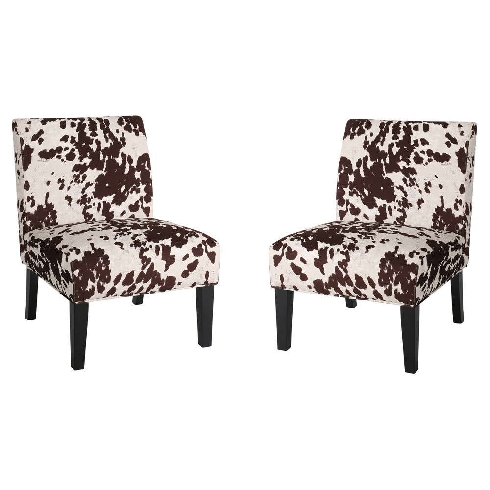 Kassi Upholstered Accent Chair Milk Cow (Set of 2) - Christopher Knight Home, White