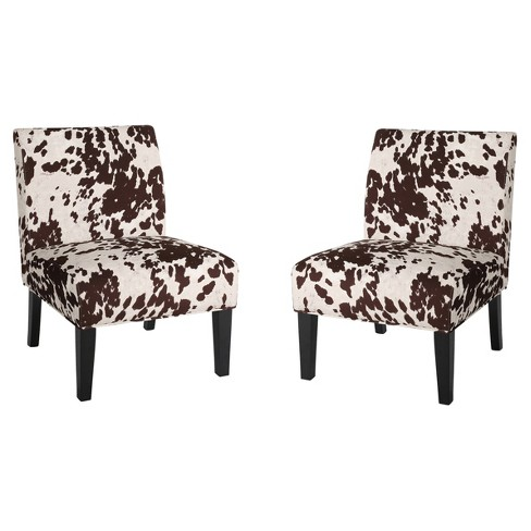 Set of 2 Kassi Cowhide Print Upholstered Accent Chair - Christopher Knight Home - image 1 of 4