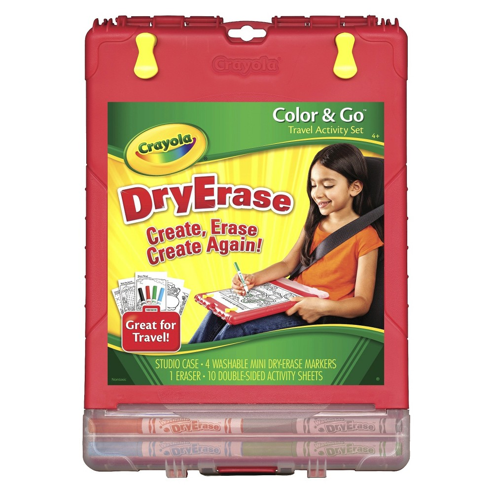 Crayola Color and Go Dry Erase Desk, Multi-Colored